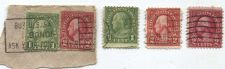 Buy Lot of (5) 1926 1c Franklin's and 2c Washington's Good Used Cancelled