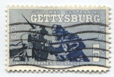 Buy 1963 + 1965 Civil War Centennial Stamps x2 Gettysburg and Appomattox Good Used