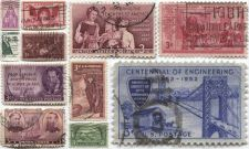 Buy 1940's+50's 3 Cent Stamps Lightly Cancelled Set 11 Unique Good Jobs & Famous