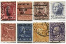 Buy 1940's+50's 2,5,10,12,14 &50 Cent Stamps Cancelled US Presidents Set 8 Precancel