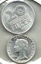Buy Hungary 20 Filler 1968 & 5 Filler 5 Filler 1964