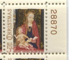 Buy 1966 5c Christmas Madonna & Child Mint, Never Hinged Plate Block Smaller Size!