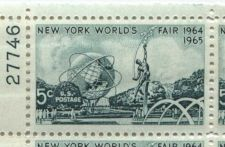 Buy 1965 5c New York World's Fair 1964-65 Mint, Never Hinged Plate Block Serial Nice