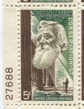 Buy 1965 5c John Muir Conservationist Mint, Never Hinged Plate Block Serial Nice