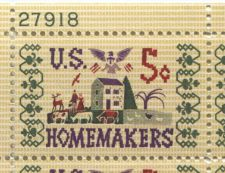 Buy 1965 5c Homemakers Mint, Never Hinged Plate Block Serial Nice Odd Paper