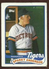 Buy 1989 Topps Baseball Manager Card #193 Sparky Anderson, Detroit Tigers MGR A307