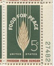 Buy 1963 5c Food For Peace Mint, Never Hinged Plate Block Serial Nice Simple