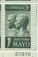 Buy 1964 5c Doctors Mayo Brothers Clinic Mint, Never Hinged Plate Block Serial Nice