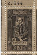 Buy 1964 5c William Shakespeare1564-1964 Mint, Never Hinged Plate Block Serial Nice