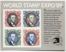 Buy 1989 90c World Stamp Expo Souvenir Stamp Sheet 4 Stamps Imperforate