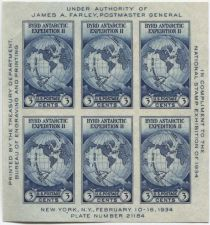 Buy 1935 3c Byrd Antarctic Expedition Souvenir Stamp Sheet 6 Stamps Imperforate