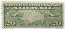 Buy 1927 20c Air Mail F-VF Mint Unused Rare US Postage Stamp Mail Planes over Map