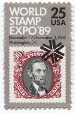 Buy 1989 25c World Stamp Expo Stamp Nov 17 - Dec 3, 1989 3 to choose from Unused