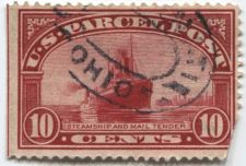 Buy 1913 10 cent Parcel Post Steamship & Mail Tender Good Used Stamp Red Edge Ohio