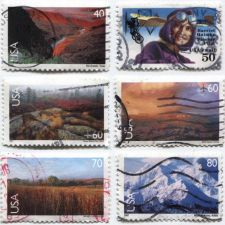 Buy Set of 6 Good Used Modern Air Mail 1999-2001 40c, 50c, 60c, 70c, 80c