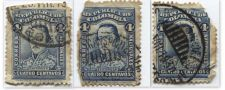 Buy 1886 Republica De Colombia 4 Centavos Blue Santander Used Cancelled Set of 3