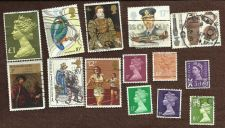 Buy BRITISH LOT 5 Collection of 14 stamps GB