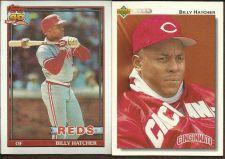 Buy 1991 Topps Billy Hatcher Baseball Card #604 + BONUS CARD