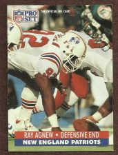 Buy 1991 Pro Set Card #577 Ray Agnew Patriots
