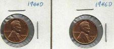 Buy US WHEAT 1944 D & 1946 D Cents
