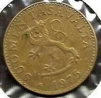 Buy FINLAND ANTIQUE 50 PENNIA 1976 COIN Rampant Lion Shield Scandinavian Coin