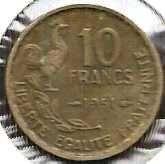 Buy France 10 Francs 1951