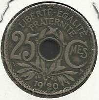 Buy France French 25c Centimes 1920 Coin Liberty Cap - GREAT COIN !!!