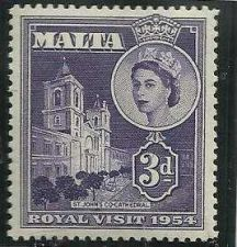 Buy Malta 1954 SG#262 QEII Royal Visit