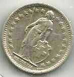 Buy Switzerland 1/2 Franc 1971 - Standing Helvetia with lance and shield