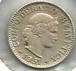 Buy Switzerland 5 Rappen 1951