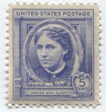 Buy 1940 5c Louisa May Alcott American Author Mint Unused Unhinged Clean