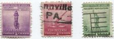 Buy 1940 1-3c Set of 3 Stamps For Defense Liberty, Anti-Aircraft Gun, Torch 2 Used