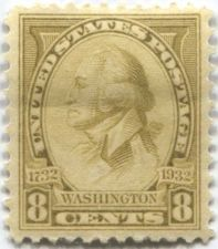 Buy 1932 8c Washington Yellow by C.B.F. Saint Memin Hinged Very Fine Uncommon