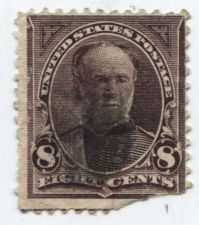 Buy 1893 8c U.S. 1890-93 Regular Issue 8¢ Sherman Black Lined Upper Corner Triangle