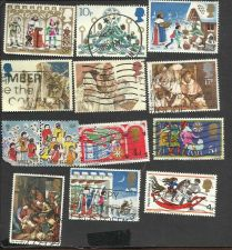 Buy 12 British Christmas Stamps