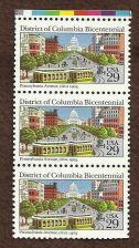 Buy District of Columbia block of 3 29c Scott #2561