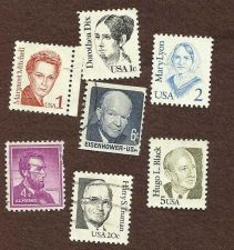 Buy US Famous People lot of 7 stamps