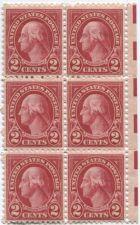Buy 1928 2c Washington Carmine Scan Block 6 Connected MNH Red Eye Bars RH
