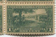Buy 1925 1c Washington @Cambridge Lexington-Concord Block of 4 Connected Mint NH