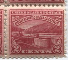 Buy 1929 2c Ohio River Canalization Block of 4 Connected Mint Never Hinged