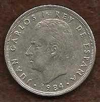 Buy Spain 5 PTAS 1984 KING JUAN CARLOS DE ESPANA COIN