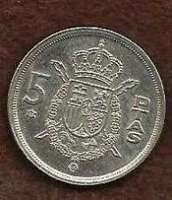 Buy 1975 KING JUAN CARLOS DE ESPANA 5 PTAS SPANISH COIN