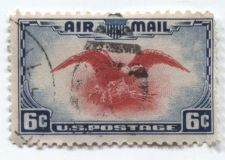 Buy 1938 6c Red Eagle Air Mail Used Light Cancellation Fine Off Paper No Hinge