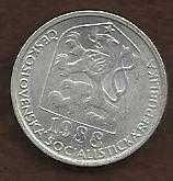Buy 1988 Czechoslovakia 10 Haleru Coin KM80 Czech Lion Socialist shi
