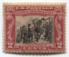 Buy 1929 2c George Rogers Clark Commemorative Unused Mint Fine Centering MNH