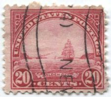 """Buy 1923 20 cents Golden Gate Used Cancelled """"New..."""" Wave Good Clean"""