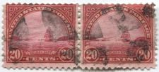 Buy 1923 20 cents Golden Gate Used Cancelled Pair Connected Horizontal Good Clean