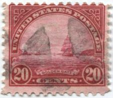 Buy 1923 20 cents Golden Gate Used Cancelled Fancy Hand Stamp Good Clean