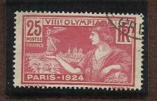 Buy France 1924 SG#402 25c Olympic Games