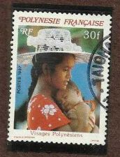 Buy French Polynesia #453 30f Woman Holding Child